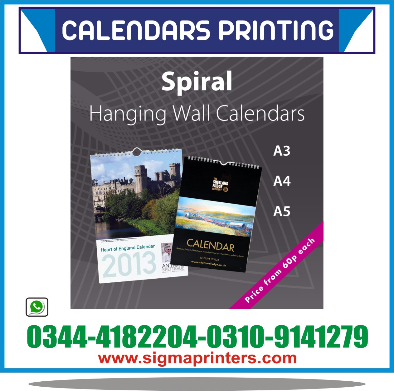 hanging wall calendars sigma printers