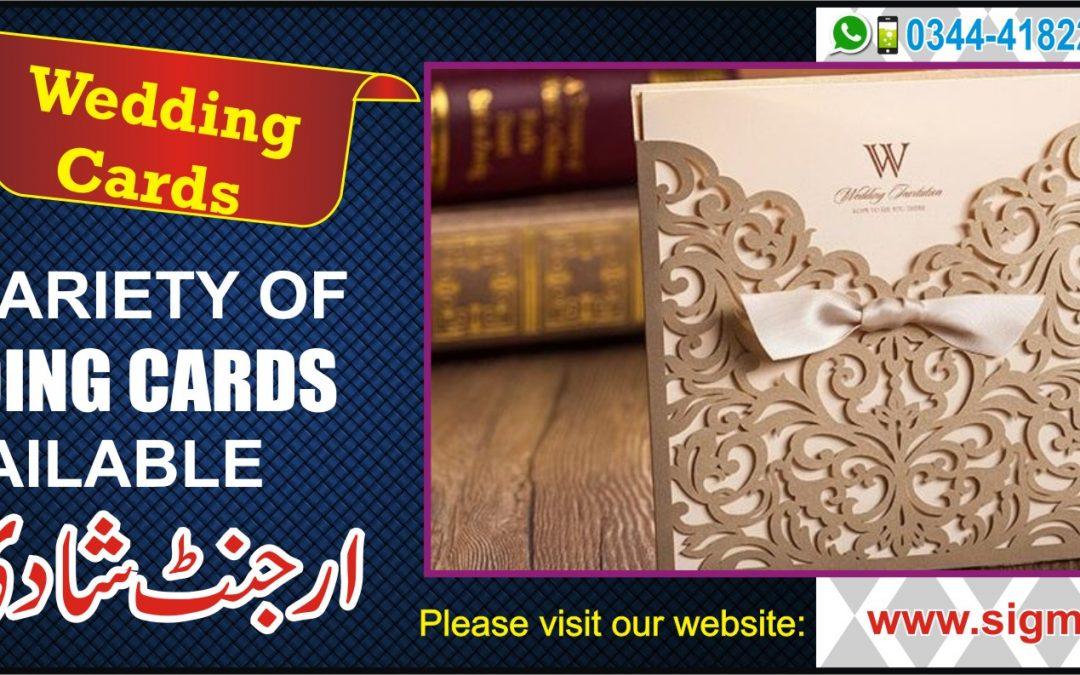 Wedding Cards Printing In Islamabad and Rawalpindi