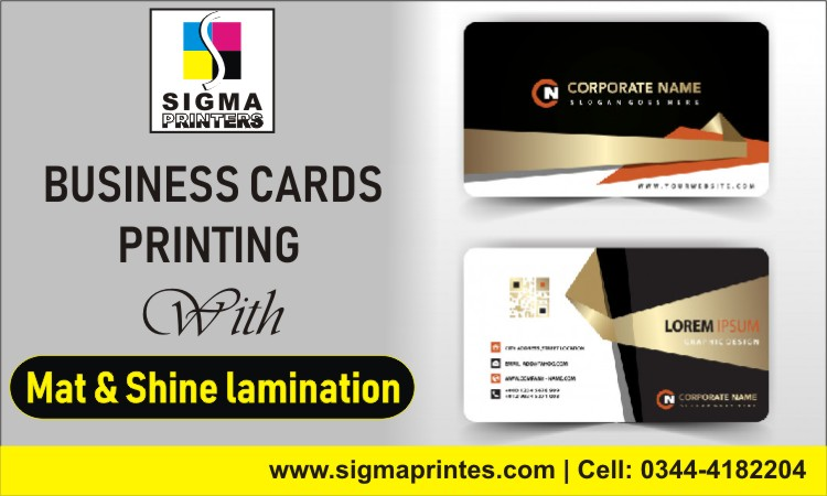 BUSINESS CARDS PRINTING IN ISLAMABAD